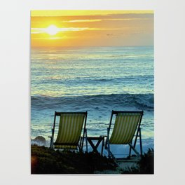 Modern Cambria CA Sunset Poster