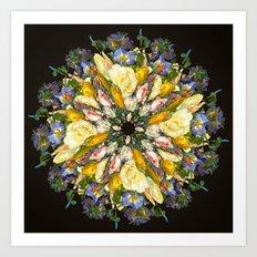 Flemish Floral Mandala 5 Art Print
