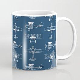 Biplanes // Navy Coffee Mug