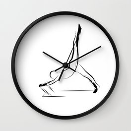 Pilates pose8 Wall Clock