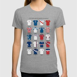 The Evolution Of The Us World Cup Soccer Jersey T-shirt