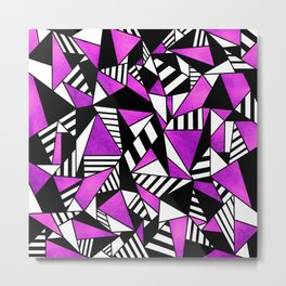Geometric Purple Metal Print