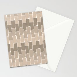 Running Bond - Sand Stationery Cards