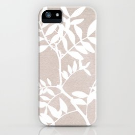 Farmhouse botanical lilac and white floral handmade print 7 iPhone Case