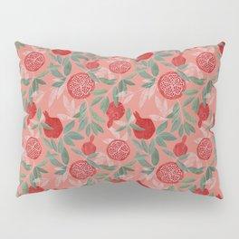 Pomegranate garden on peach pink Pillow Sham