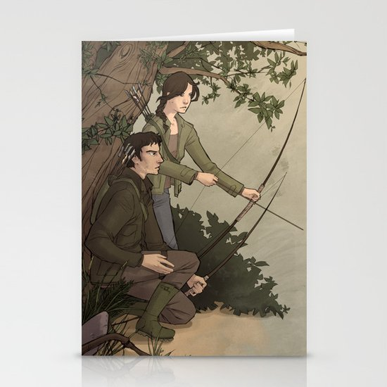 Katniss and Gale Stationery Cards