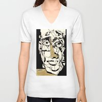golden V-neck T-shirts featuring Golden by 5wingerone