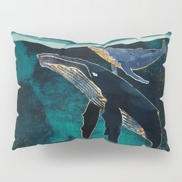 Moonlit Whales Pillow Sham