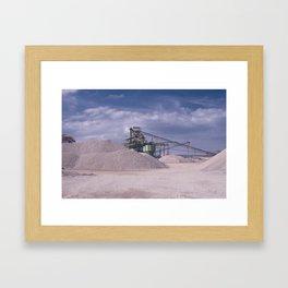 DE - Gravel processing plant Rißtissen Germany Framed Art Print