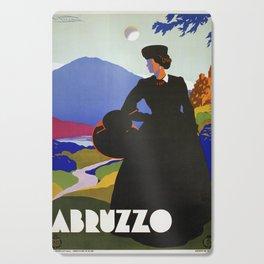 Abruzzo Italian travel Lady on a walk Cutting Board