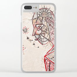 Seeing (Red) Clear iPhone Case