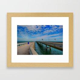 Overseas Highway Florida Keys Framed Art Print