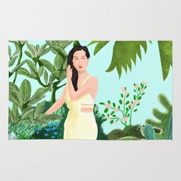 Lady in Garden Rug