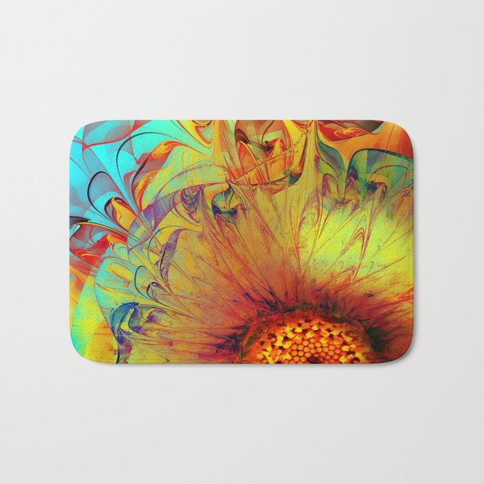 Sunflower Abstract Bath Mat
