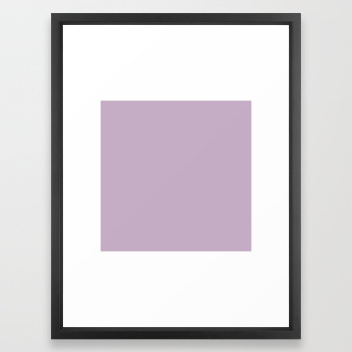 Simple Solid Color Wisteria Purple All Over Print Framed Art By Podartist Society6
