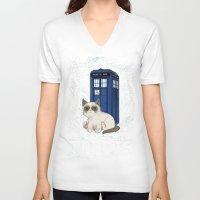 tardis V-neck T-shirts featuring TARDIS by Arcade