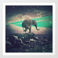 walk the moon Art Prints featuring Moon walk by nois7