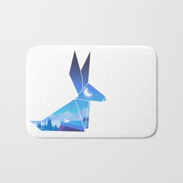Origami Bunny (Nap on the cliff) Bath Mat