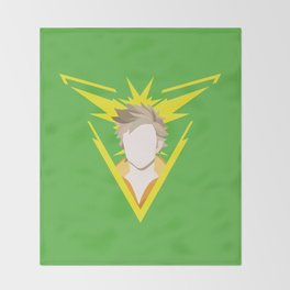 Team Instinct leader - Spark Throw Blanket