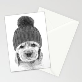Black and White Cocker Spaniel Stationery Cards