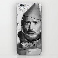 robert downey jr iPhone & iPod Skins featuring Robert Downey Jr by Pazu Cheng