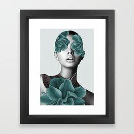 Floral Portrait (woman) Framed Art Print