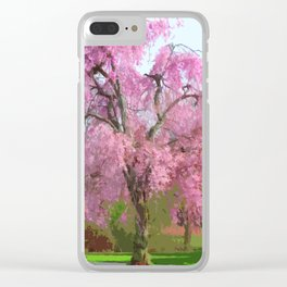 Flowering Tree in Spring Stylized Photo Illustration Clear iPhone Case