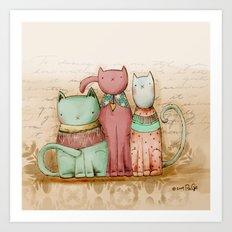 Three Friends Art Print