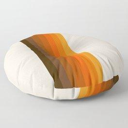 Retro Golden Rainbow - Straight Floor Pillow