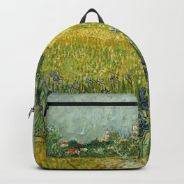 Field with Flowers near Arles by Vincent van Gogh Backpack