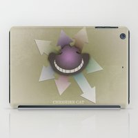 cheshire cat iPad Cases featuring Cheshire Cat by coalotte