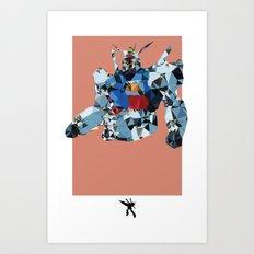 Gundam Polygon Mesh Art Print