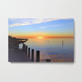 Ocracoke Pamlico Sound Sunset 2015 Metal Print