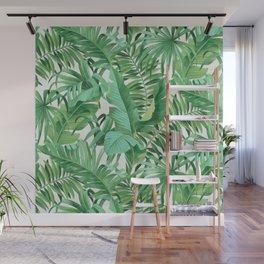 Green tropical leaves III Wall Mural