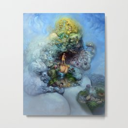 BLUE GOLD FANTASIA Metal Print