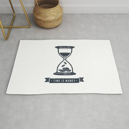 Time Is Money. Motivational Quote.Creative Illustration Rug