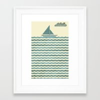 sailboat Framed Art Prints featuring SailBoat by Jeremy Lobdell