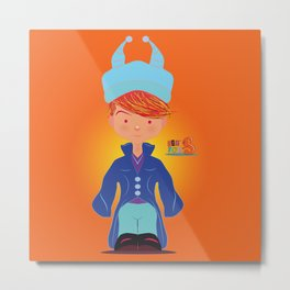 Le petit Mikel /Character & Art Toy design for fun Metal Print