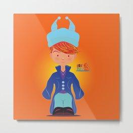 Le petit Mikel /Character & Art Toy design for fun Metal Print