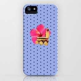 9mm Hibiscus Dots iPhone Case