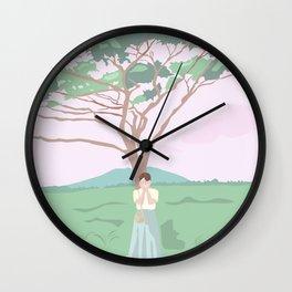 Shy Tree Wall Clock