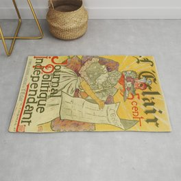 1897 French art nouveau journal advertising Rug