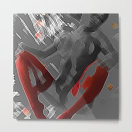 Impressions of a Nake and Nude Woman Metal Print