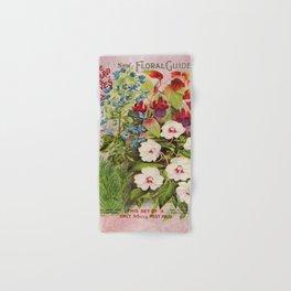 Vintage Flowers Advertisement Collage Hand & Bath Towel