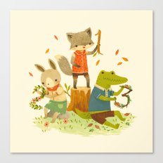 Counting with Barefoot Critters Canvas Print