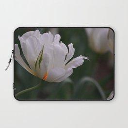 Expressive White Tulip Laptop Sleeve