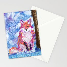 Calm Winter Fox Stationery Cards