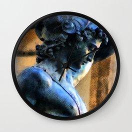 Perseus Greek Hero Statue Illustration Wall Clock