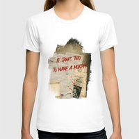 dramatical murder T-shirts featuring Murder Board by Sybille Sterk