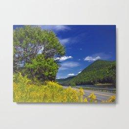 Image Pennsylvania USA Nature mountain Sky Roads Mountains Metal Print